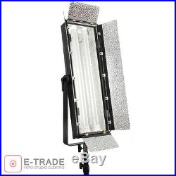 110W Fluorescent Light PANEL LAMP Kinoflo type video studio with diffuser