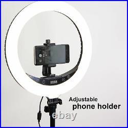 14 Studio LED 24W Ring Light +2M Reverse Stand Photo Video Selfie Makeup Beauty