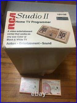 1976 RCA STUDIO II MODEL 18V100 HOME TV VIDEO GAME CONSOLE + 2 Games Untested