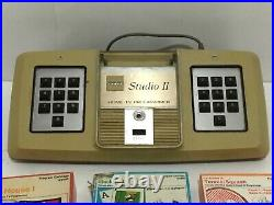 1976 RCA STUDIO II MODEL 18V100 HOME TV VIDEO GAME CONSOLE + 4 Games Untested