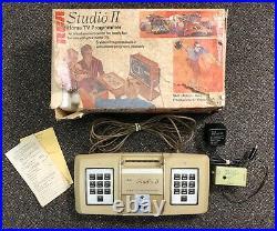 1976 Rca Studio II Model 18v100 Home Tv Programmer Video Game Console And Box