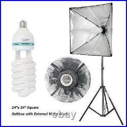 2000W Fotografía Video Studio Kit de iluminación, Paraguas Iluminación continua