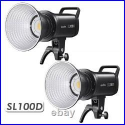 2X Godox SL100D 100W 5600K LED Video Light Studio Continuous Light APP Control