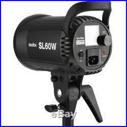 2x Godox SL-60W 60Ws 5600K Studio LED Continuous Photo Video Light for Wedding