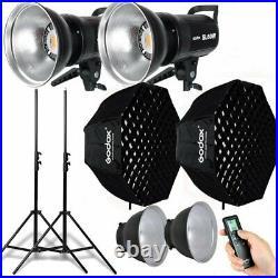 2x Godox SL-60W Studio LED Video Photo Light + Softbox + Stand For Wedding Kids