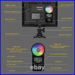 2x Yongnuo YN300Air II Studio Photo Video RGB LED Light Panel Dimmable + Stand