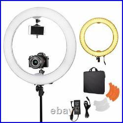 50W 5500K Dimmable 18 LED Diva Ring Light Photo Video Studio Lighting Upgrade