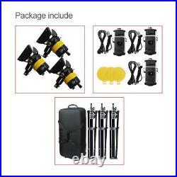 5500/3200K 3X80W V-mount LED Spotlight+Stand Kit For Video Studio Photography