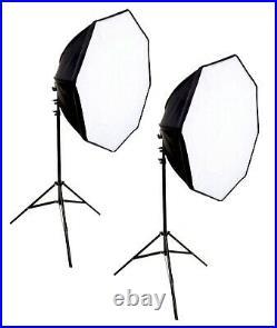 6PCS LED 1200W 28 Octagon Softbox Light Kit Photography Photo Studio Video Set