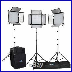 AKTION METTLE Studio-Set PEGASUS VL-3650 Plus 3x LED-Flächenleuchte Foto Video