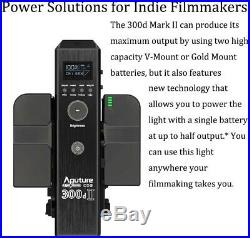 Aputure LS 300d ii Led Video Light Studio Lighting V-mount + Light Dome MinI II