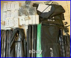 COWBOY STUDIO Photo Video Softbox Light Kit LIMOSTUDIO Heavy Duty Green BACKDROP