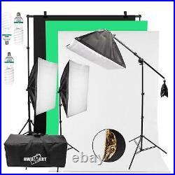 Continuous Lighting Studio Photography Background Softbox 150W x3 Photo Video UK