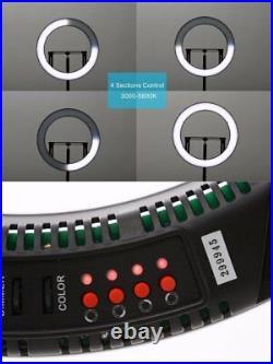 Falconeyes DVR-160TVC Studio Video LED Ring Light Bi-Color Fill-in Light Lamp