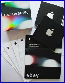 Final Cut Studio 1, 2 und 3 kompl. Installations-DVDs Apple Mac Videoschnitt
