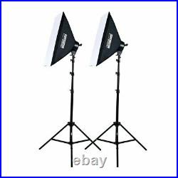 Fovitec 2000W Photography Continuous Video Studio Lighting Softbox Kit