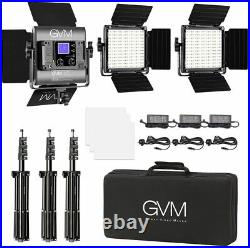 GVM 800D RGB Video Light Led Panel Light, 3 Pack Photography Studio Lighting