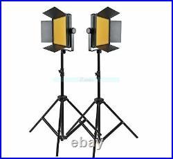 Godox 2000 2X 1000 LED Studio Continuous Light Kit For Video Wedding 3300-5600