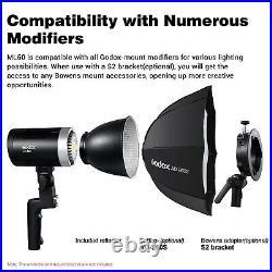 Godox ML60 60W 5600K CRI96 32-Channel LCD screen Led video Studio Camera Light