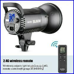Godox SL-60W 5600K Studio LED Video Light Continuous Light + 95cm Softbox Grid