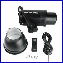 Godox SL-60W 5600K White Version Studio LED Video Light + 50x130cm Softbox +Grid