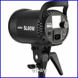 Godox SL-60W 60W 5600K LED Video Continuous Studio Light Strobe +95cm Softbox UK