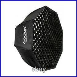 Godox SL-60W LED Video Studio Licht Fotolampe Kit + 95cm Softbox Grid +2M Stand