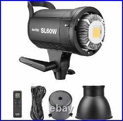Godox SL-60W Studio LED Video Continuous Light + 95cm Gird Softbox + Stand