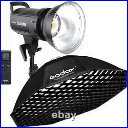 Godox SL-60W Studio LED Video Photo Light +Octagon Softbox Grid For Wedding Kids