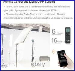 Godox VL150 Compact Studio LED Video Light Bowens + 140cm 55 Softbox+ C Stand
