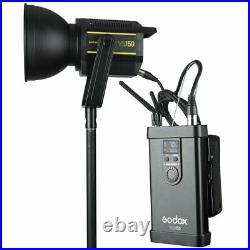 Godox VL150 Compact Studio LED Video Light Bowens +95cm softbox Grid+light stand