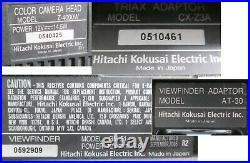Hitachi Z-4000W Video Camera Triax BCTV Studio Package GM-51 Viewfinder RC-Z3 #2