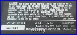 Hitachi Z-4000W Video Camera Triax BCTV Studio Package GM-51 Viewfinder RC-Z3 #3