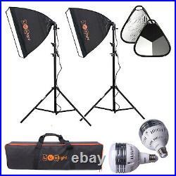 LED Softbox LED Lighting & Reflector Kit Luxlight Photo Video Studio Set