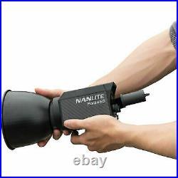 NANLITE Forza 60 5600K 60W Portable COB LED Video Light Photo Studio Spotlight