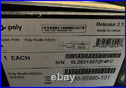 NEW Polycom Poly Studio X30 All-in-one 4K Video Conferencing Bar 2200-85980-101
