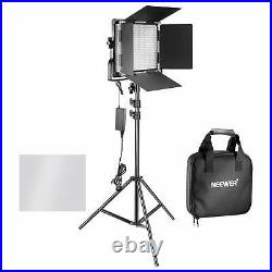 Neewer 2 Pack Bi-color 660 LED Video Light and Stand Kit Studio Photo Video
