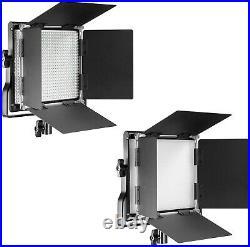 Neewer 2 Packs Professional Metal Bi-color LED Video Light for Studio, YouTube