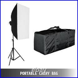 Photography 4 Backdrops+Stand Set Photo Studio Softbox Lighting Video Light Kit