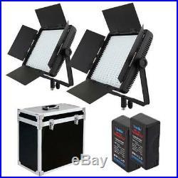 Profi-Studioset 2x LED-Flächenleuchte 900 SA, Akku, Studio-Koffer Foto & Video
