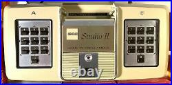 RCA Studio II Video Console 18V100 7 Games Boxes & Manuals untested vintage vide