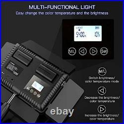 SAMTIAN LED Video Light, Dimmable Bi-Color 600 LED Studio Lights Lighting Kit 3