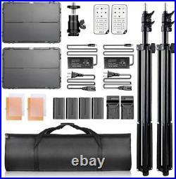 Samtian TL-600S Photography Studio LED Video Light Kit TL-600Sx2