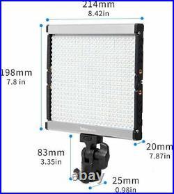 Selens GE-500 Studio Daylight LED 5600K Dimmable Video Camera Light Kit NEW