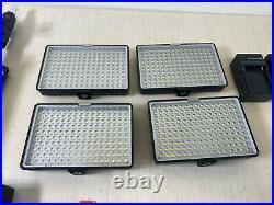 Set of 4 Samtian LED Panel Studio Photograpy Video Light Kit