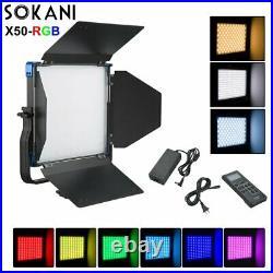 Sokani X50 RGB Studio Camera LED Video Light Daylight 5600K For Canon Nikon Fuji