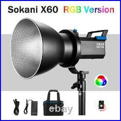 Sokani X60 V2 RGB LED Video Light 5600K Daylight 80W Photo Studio Lighting APP c
