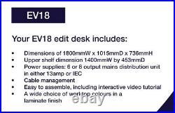 Studio Desk (Standard edit desk EV18 for Music & Video)