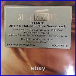 TITANIC Original Motion Picture Soundtrack James Horner 2 GOLD Vinyl LPs, 2016