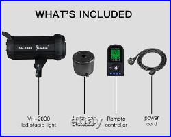 VH2000 200W 5500K Daylight Studio Continuous LED Video Light With Remote Control